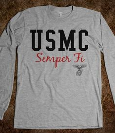 USMC - Marines - Devil Dogs - Leathernecks - Grunts - Jarheads - Semper Fi - Marine Love - Oorah - Marine Clothing - Marine Sweat-Shirt