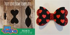 We at Rainbow Creations, Proudly present to you our True Love bow templates, in SVG file format for use with a digital cutting machine, compatible with Silhouette and Cricut machines This full set of templates will give you the bow in sizes 2.5, 3, 4, 5, and 6 Each size