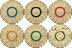 Coloured 2 Dollar Olympic Coins To Be Released