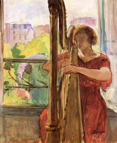 Harpist in front of the Window, Henri Lebasque