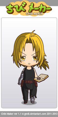 Edward Elric (Fullmetal Alchemistr) Chibi Maker