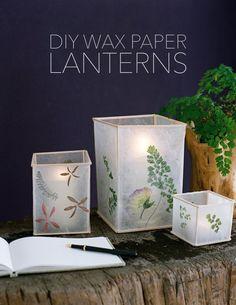 DIY+Wedding+Wax+Paper+Lanterns