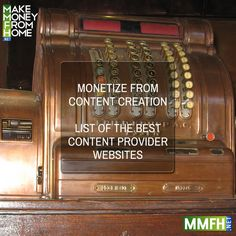 Monetize from Content Creation & Best Content Provider Websites!