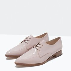 ZARA - SHOES & BAGS - LACE-UP BLUCHERS