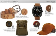 s/s boys trend theme, the naturalist, accessories
