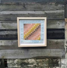 Wall quilt textile art rustic decoration miniature by HootersHall