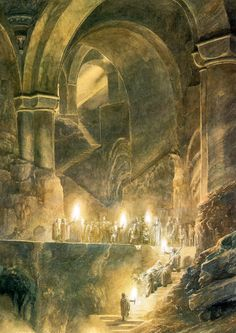 Thorin's Burial ~ Watercolor by Alan Lee