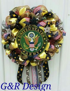 of July Sale Patriotic Wreath, Military Retirement, US Army Wreath, Veterans Day Gift, Fathers D Patriotic Wreath, Patriotic Decorations, Handmade Decorations, Patriotic Crafts, Army Wreath, Military Wreath, Military Retirement, Retirement Gifts, Veterans Day Gifts