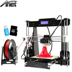 2016 LCD Anet A8 3D-printer Size 220*220*240 Precision Reprap Prusa i3 DIY 3D Print Full Acrylic with Filament &Card& Video Free