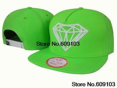 Diamond Supply Co. Snapback Hats green baseball caps Are Great For Charity Events And Blood Drives freeshipping $9.99