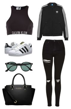 """""""School"""" by april-baby123 ❤ liked on Polyvore featuring adidas Originals, Calvin Klein, Topshop, MICHAEL Michael Kors and Ray-Ban"""
