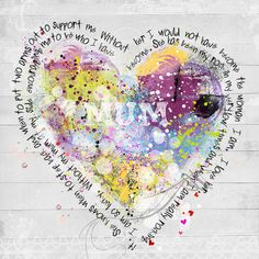 Collage heart surrounded by journaling.