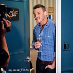 """29 Likes, 1 Comments - I Am Luke Evans Fan (@iamlukeevansfan) on Instagram: """"@Regranned from @luuuuuke_evans - Luke Evans on The Late Late Show with James Corden, January 29,…"""""""