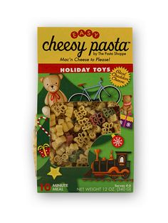 A family size mac ´n cheese for all to enjoy! Our holiday toys mac 'n cheese makes a perfect dinner for the kids or to bring for any Holiday event! Shop NOW Christmas Fundraising Ideas, Perfect Pasta Recipe, Cute Coloring Pages, How To Make Cheese, Holidays And Events, Happy Holidays, Kids Meals, Cooking Pasta, Dinner