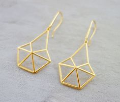 Structure Earrings, Geometric earrings, signature earrings, Architectural jewelry