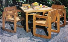 Outdoor dining set from Building More Classic Garden Furniture by Danny Proulx. If interested, please ask for a free quote on this item. We'd love to build it for you.