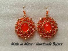 Tutorial - Orange Fantasy -  modulo per orecchini o ciondolo con ovale 1...