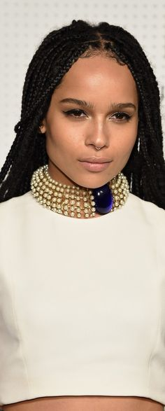 Zoe Kravitz at Guggenheim International Gala Dinner 2014...looking more and more like her mother every day!