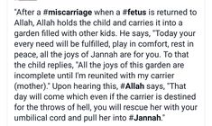 After Miscarriage in islam # fetus