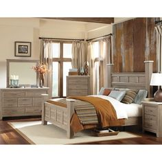 Furniture of America Claresse Traditional 4-piece Tobacco Oak ...