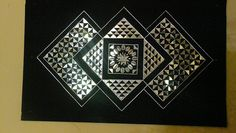 Wall hanging designed with pieces of mirror