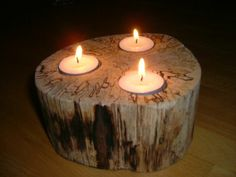 I have always loved candles in wood...don't know why, just love the look!  Feels so warm and cozy!!!  MMmmm.........   ;)