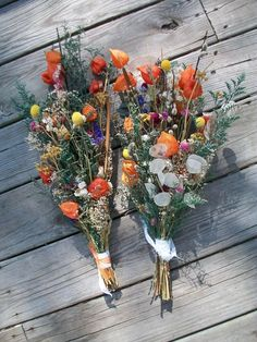 Beautiful Bouquet of Colorful Dried Flowers ON by chicksandsticks