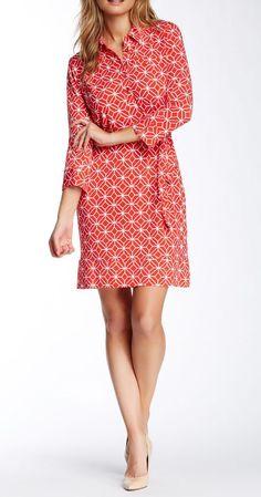 Geo Print Shirt Dress by Donna Morgan