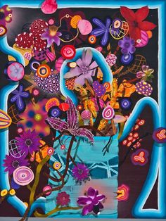 Love this floral painting by Amir H Fallah