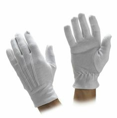 Prop Adult Unisex White Magician Gloves Wizard Clown Fancy Dress Party Accessory