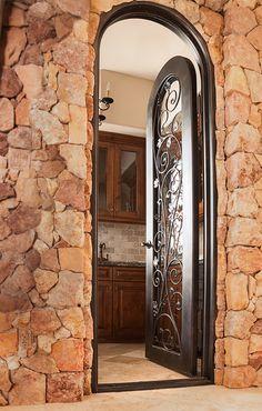 Iron Wine Door Las Vegas Hybar Windows And Doors Natural Stone Wall Stones