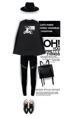 """""""Glory box"""" by ladrianag ❤ liked on Polyvore featuring Maison Michel, Givenchy, Puma, McQ by Alexander McQueen, Fall, black and falloutfit"""