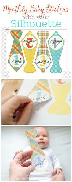 Create monthly baby stickers for onesies using a Silhouette Cameo or Portrait