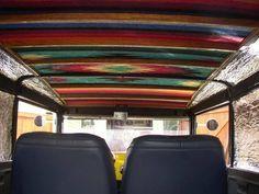 Mexican Blanket Headliner Truck Interior Hippie Car Car