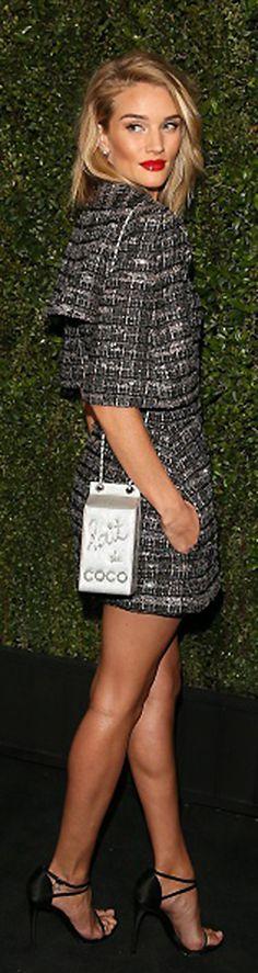 Rosie Huntington-Whiteley At Chanel Dinner   cynthia reccord