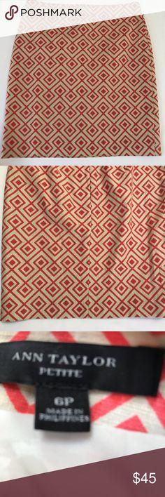 9a19448522 Ann Taylor Aztec print pencil skirt size 6 Petite. Super cute skirt very  elegant for