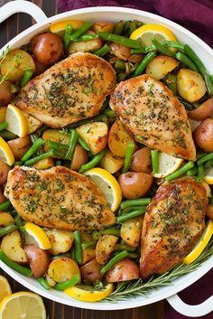 One Pan Garlic Herb Chicken and Veggies | Cooking Classy