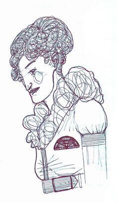 Clarissa. Drawing by Consti*