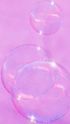 Pink/ Purple Aesthetic cute sparkle bubble