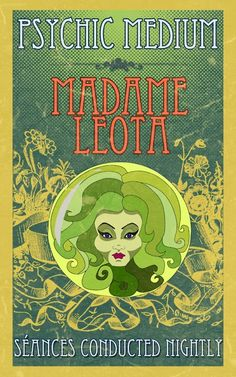 haunted mansion - madame leota poster