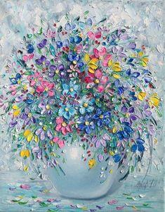 Werke von Elena Andreeva – 12 – Daniel Fortier – Join the world of pin Acrylic Painting Flowers, Acrylic Art, Acrylic Painting Canvas, Canvas Art, Texture Art, Texture Painting, Painting & Drawing, Art Oil, Flower Art