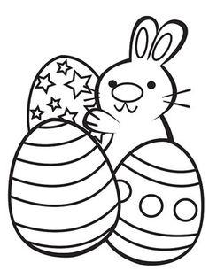 conejito con huevos de Pascua