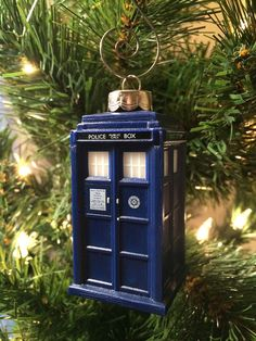 Doctor Who TARDIS Christmas Ornament by 2PeasCreations on Etsy