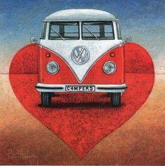 I love camper vans! Volkswagen Type 2, Volkswagen Transporter, Vw T1, Volkswagon Van, Bus Art, Vw Vintage, Vintage Stuff, Kombi Home, Combi Vw