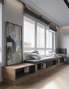 Мягкая зона у окна в гостинной по выгодным ценам от «Алька Мебель» - 1014981532