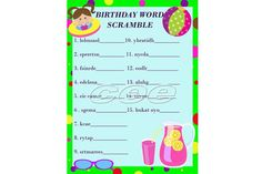 Pool Party Birthday Game, Pool Party Game For Kids, Children Party Game,  Instant Downloadable Party Game