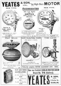 Old Automobile Related Advertisements