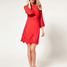 Asos red retro dress
