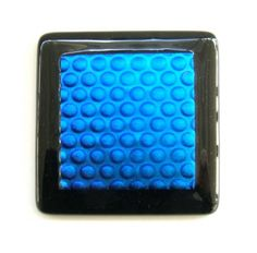 Blue Bubbles Glass Knobs Cabinet or Pull Hardware Uneek Glass Fusions