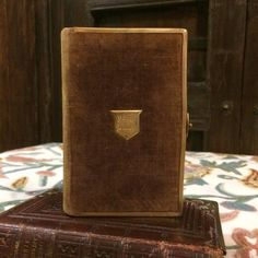 1800s Antique Holy Bible with Velvet Cover and Clasp 1800s